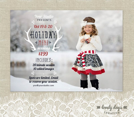 Hoilday Mini Christmas Session Template For Photographers