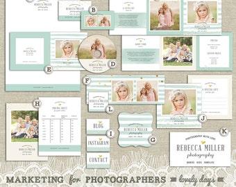 Marketing Set for Photographers Marketing Kit Photography Templates INSTANT DOWNLOAD