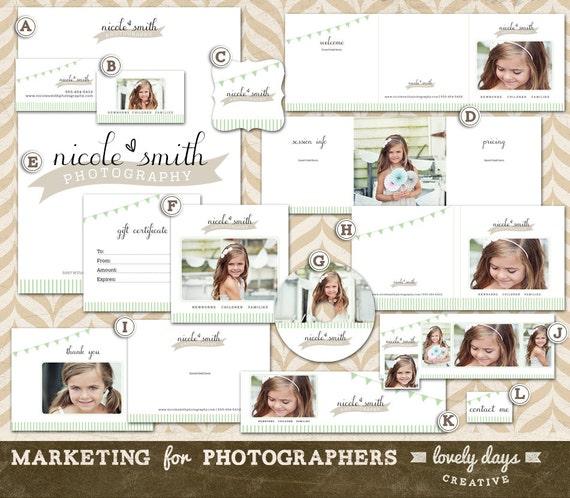 Photography Marketing Templates Branding Set For Photographers Etsy