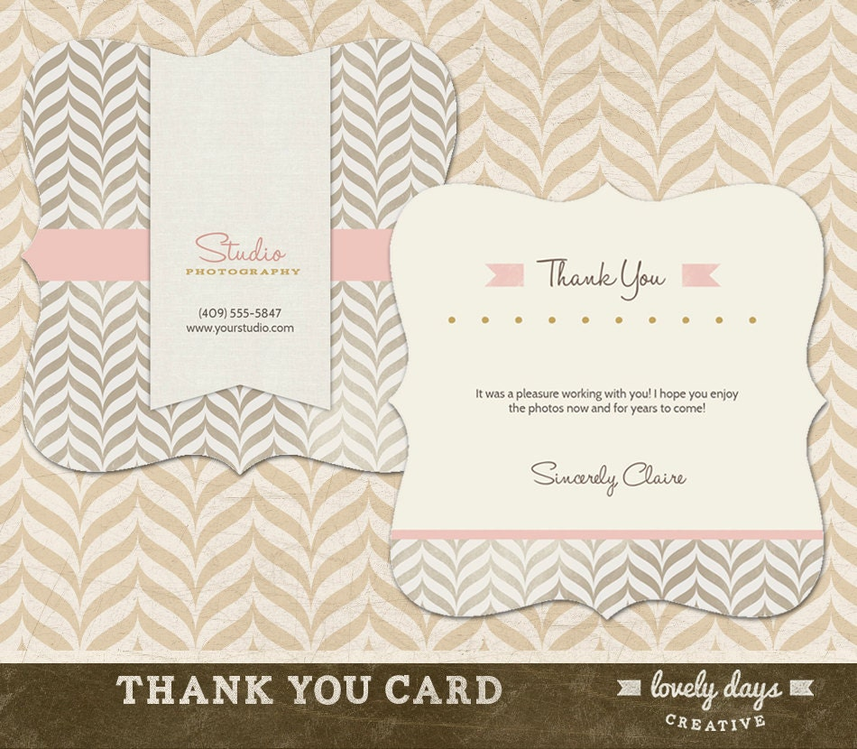 Thank You Card Template For Photographers Instant Download Etsy