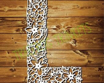 CYO Papercut Template - Letter L