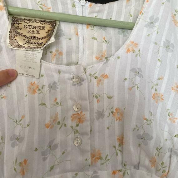 Gunne Sax floral dress size 9 - image 4
