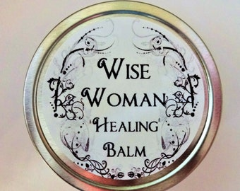 Wise Woman Herbal Healing Balm 1 or 2 Oz.  Natural Balm, Herbal Salve, Organic Balm, Wound Care, Natural Salve, Comfrey Salve, Sprain Balm