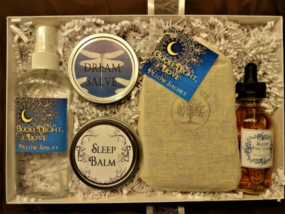 Good Night, Love Spa Set For Restful Sleep - Natural Insomnia Relief,  Herbal Sleep Aid, Sleep Aromatherapy, Spa Gift, Natural Sleep Aid