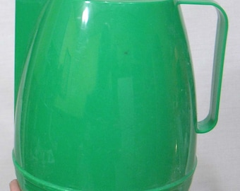 Vintage Styron Plastic Mid Century Green Pitcher with Original Styron Label