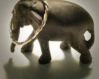 3 Metal Astrological Yoga Bangle Bracelet 24 kt Gold Fine Silver Copper Kapha