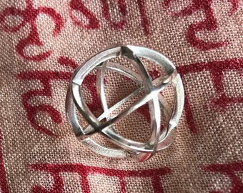 Vector Equilibrium Pendant in Sterling Silver
