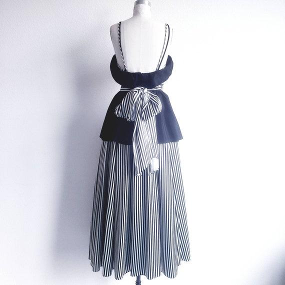 Gunne Sax Black and White Dress - image 3