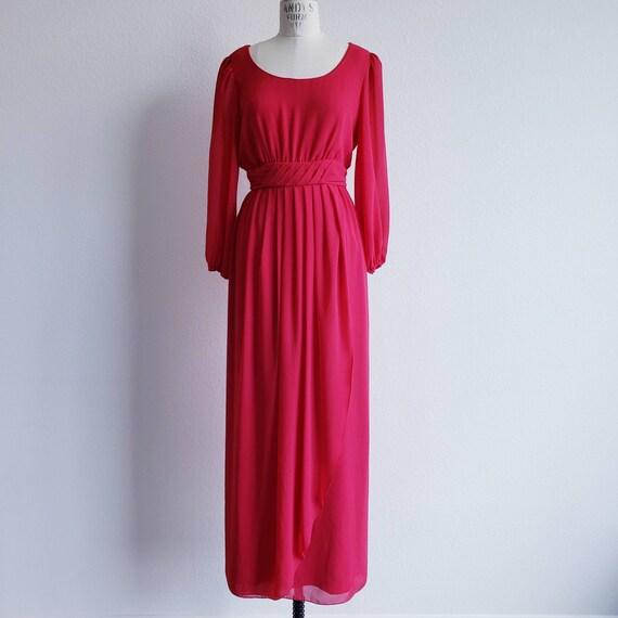 Vintage Red Miss Elliette Maxi Dress