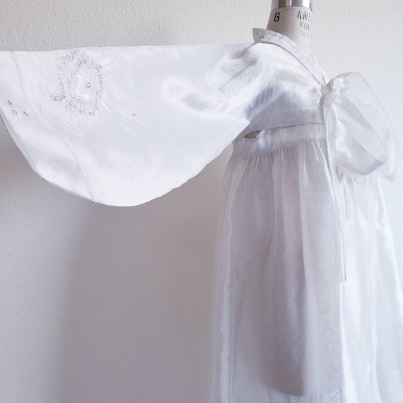 Vintage White Organza Korean Hanbok