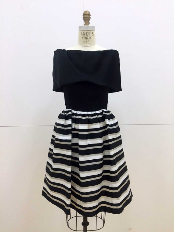 Vintage 80s Cocktail Party Dress by Albert Nipon