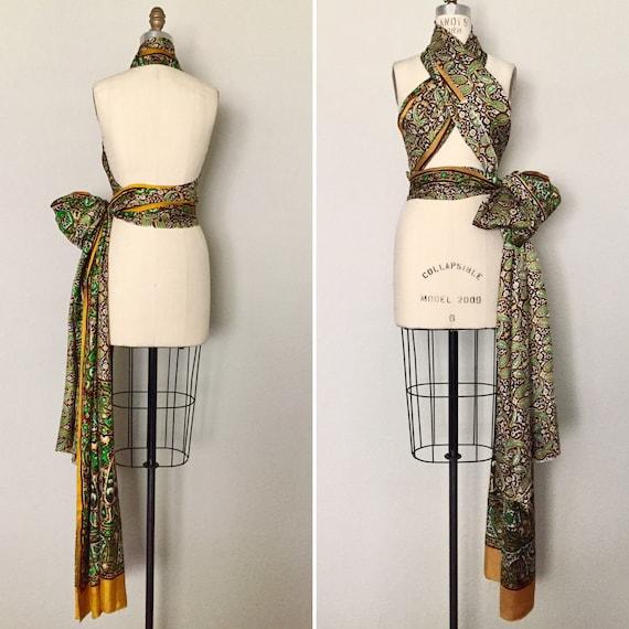 Vintage Paisley Sari - image 2
