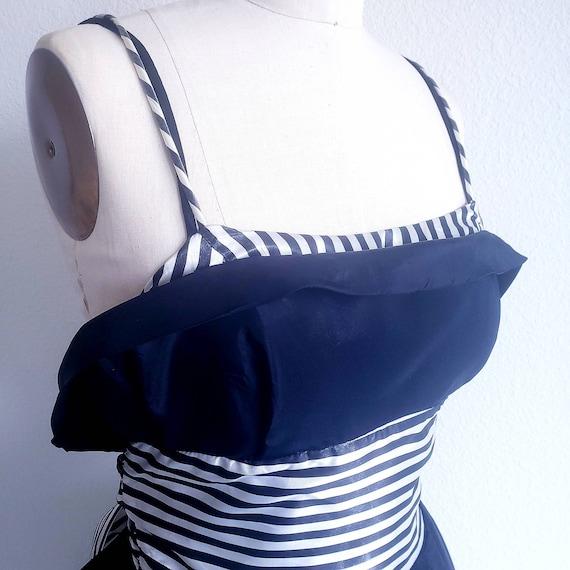 Gunne Sax Black and White Dress - image 4