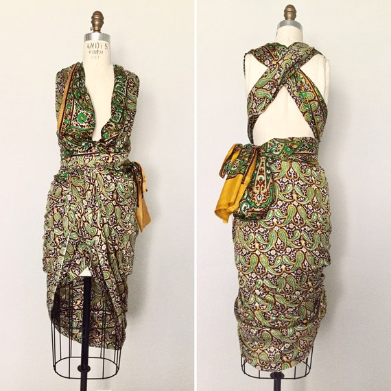 Vintage Paisley Sari - image 3