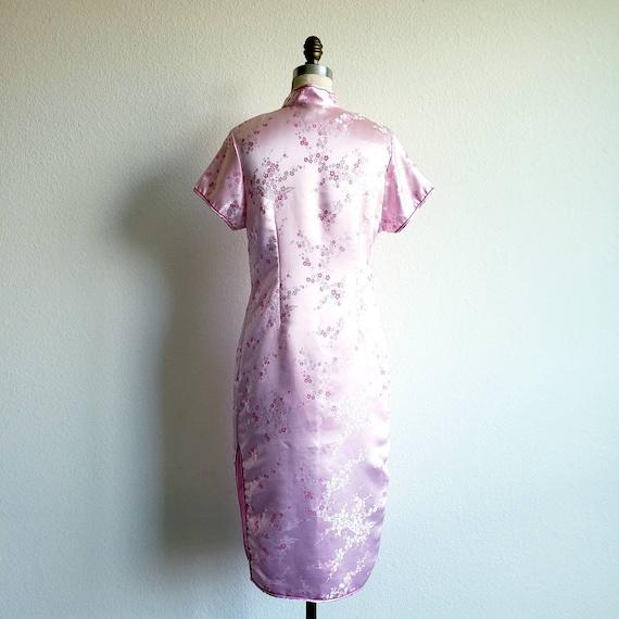 Vintage Pink Cheongsam Qipao Mandarin Dress - image 3