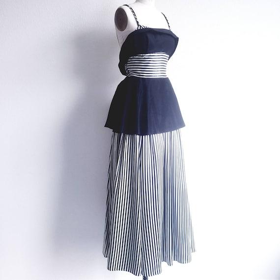Gunne Sax Black and White Dress - image 2