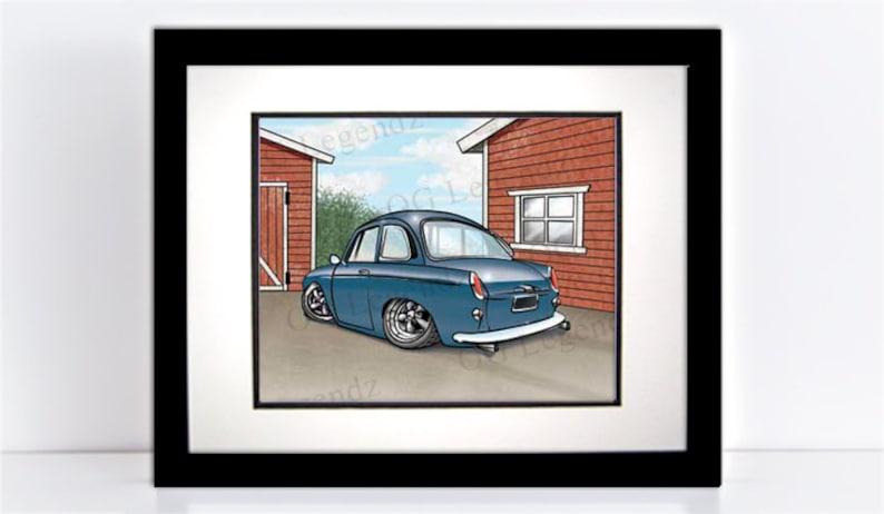 VW Notchback Art Print  An Original EXCLUSIVE Volkswagen image 0