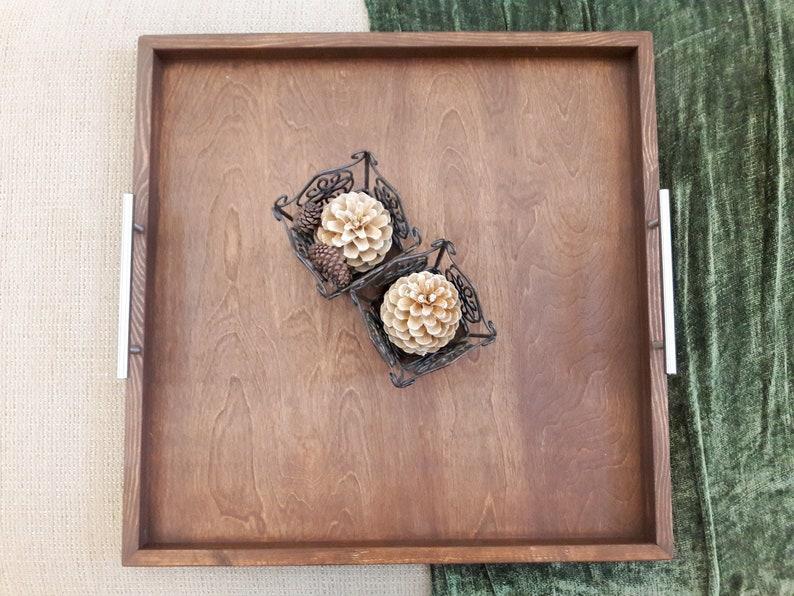30x30 Horizon Handcrafted Rustic Wood Ottoman image 0