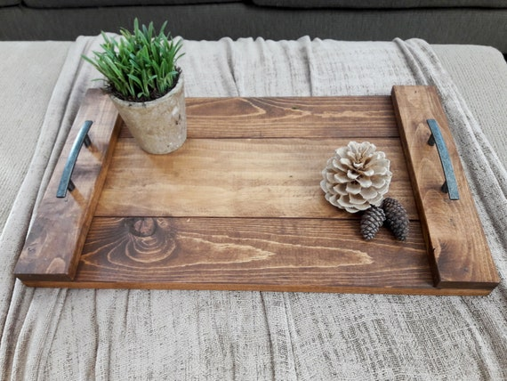 The Farmhouse Tray 3 Size Options Handcrafted Rustic Etsy