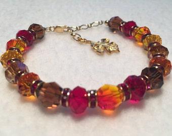 Autumn - Sacred Energy Infused Swarovski Crystal Healing Bracelet by Crystal Vibrations Jewelry