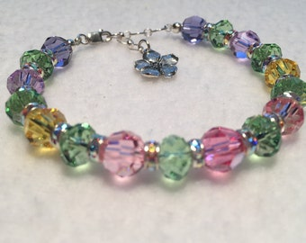 Spring - Sacred Energy Infused Swarovski Crystal Healing Bracelet by Crystal Vibrations Jewelry