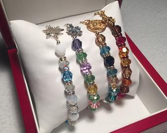 The Four Seasons Set - Sacred Energy Infused Swarovski Crystal Healing Bracelets by Crystal Vibrations Jewelry