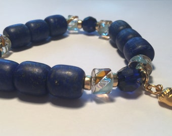 CREATE your dreams with this Powerful, LOVE Infused Lapais Lazuli Crystal Bracelet by Crystal Vibrations Jewelry