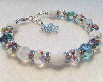 Winter - Sacred Energy Infused Swarovski Crystal Healing Bracelet by Crystal Vibrations Jewelry