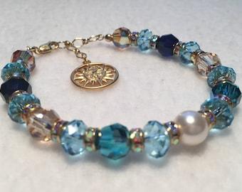 Summer - Sacred Energy Infused Swarovski Crystal Healing Bracelet by Crystal Vibrations Jewelry