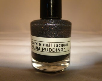 Plum Pudding---Handmade/Homemade Glitter Nail Polish