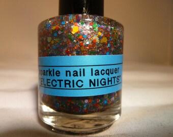 Electric Nights---Handmade/Homemade Glitter Nail Polish