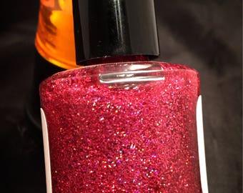 NEW---Cherry Sparkle---handmade glitter nail polish 2017