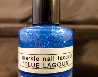 Blue Lagoon---handmade nail polish