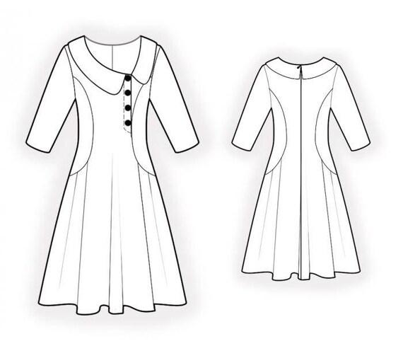 Lekala 4657 Kleid PDF Muster Nähmuster PDF | Etsy