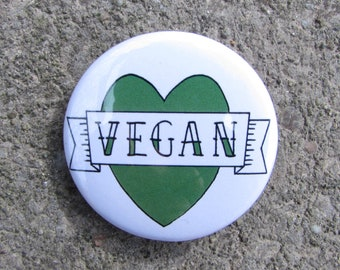 Vegan Digital Artwork 38mm Badge