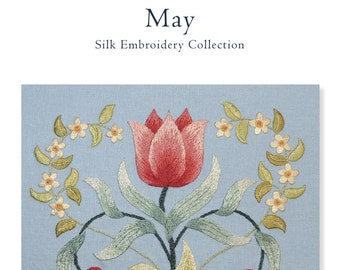 PDF download MAY silk embroidery pattern