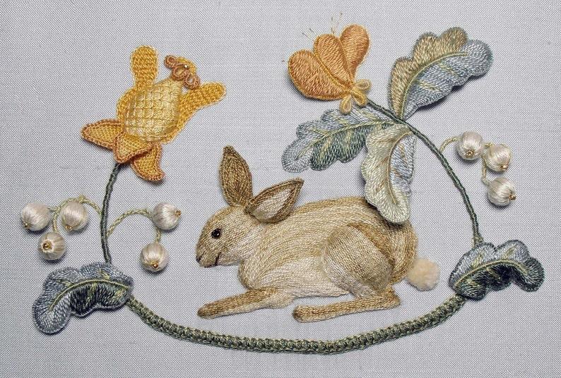 Raised Embroidery Kit  BROTHER RABBIT image 0