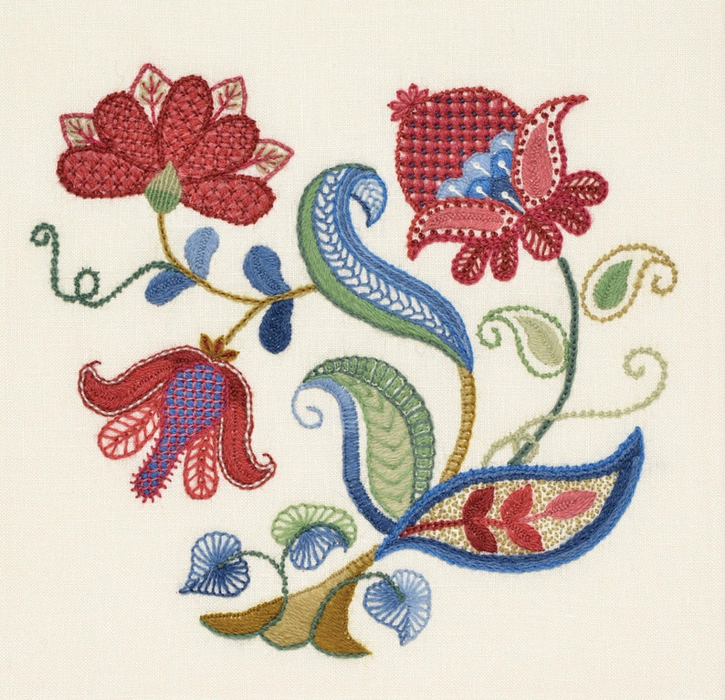 Crewel Embroidery Kit  MEADOW BLOOM image 0