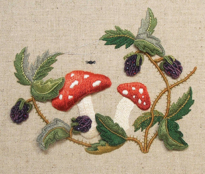 Raised Embroidery Kit  TOADSTOOLS & BRAMBLES image 0