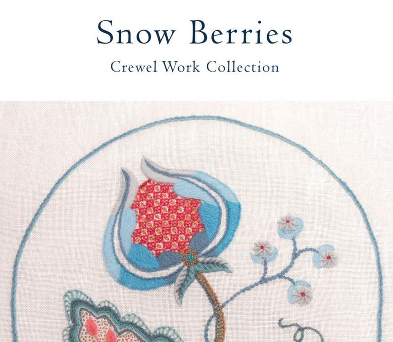 PDF download  SNOW BERRIES embroidery pattern image 0