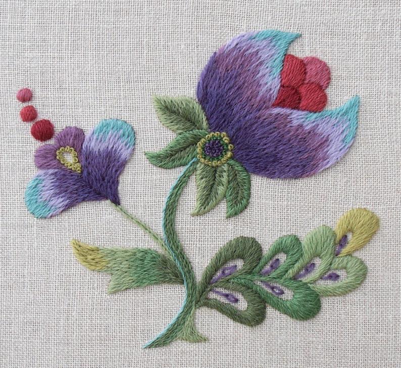 Crewel Embroidery Kit  'Purple Grace' image 0