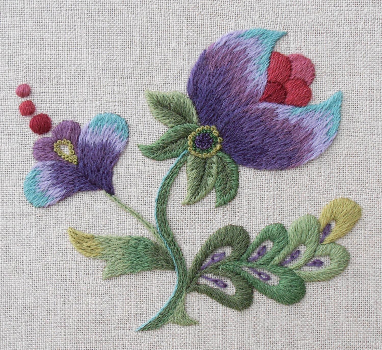 Crewel Embroidery Kit 'Purple Grace'