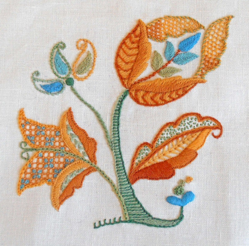 Crewel Embroidery Kit  AUTUMN GOLD image 0