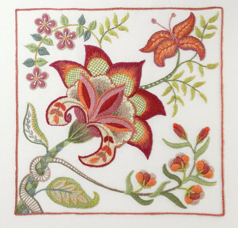 Crewel Embroidery Kit  SCARLET GLORY image 0