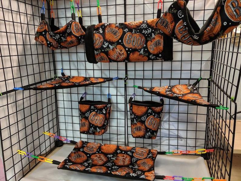 8 Piece Sugar Glider Cage SetHalloween Sugar Glider Accessories