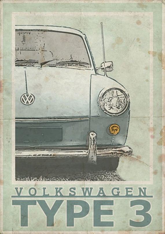 VB02 VINTAGE VW VOLKSWAGEN BEETLE CAR ADVERTISING A2 POSTER PRINT