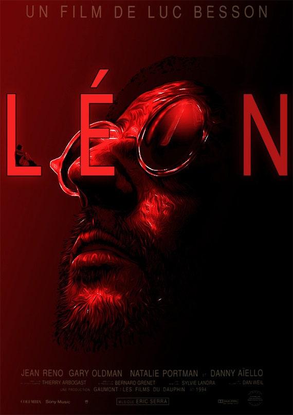 THE PROFESSIONAL Alternative Minimal Movie Poster LEON