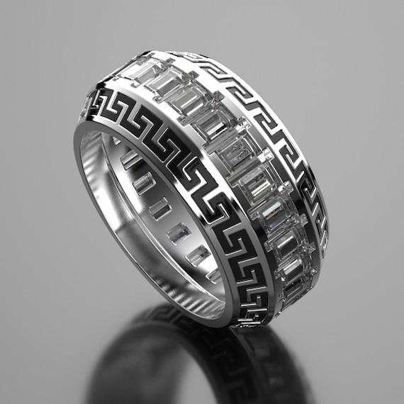 Versace Mens Wedding Ring Wedding Sets Women Rings Custom Etsy