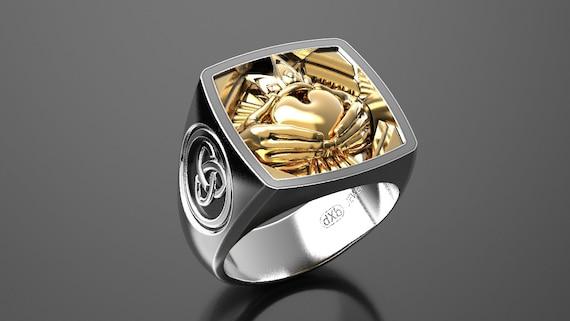 Claddagh Wedding Ring Irish Claddagh Gold Wedding Rings Etsy
