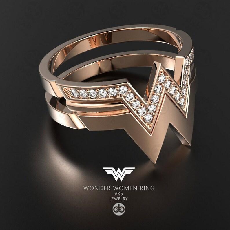 270b60aea Title: Wonder Woman rose gold Ring Super Hero Wonder Woman   Etsy